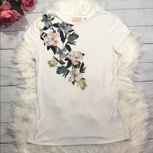 Ted Baker London Pink Floral Graphic Tee